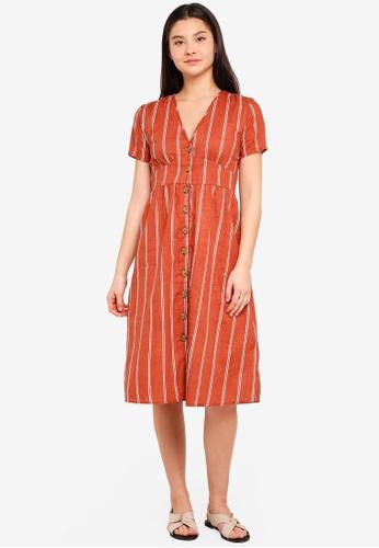 Cotton On brown Woven Gigi Button Through Midi Dress 2F8EDAA00A52C1GS_1