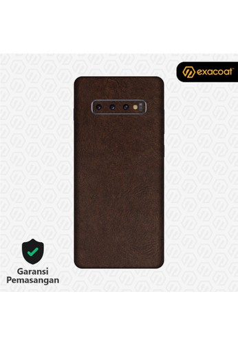 Exacoat Galaxy S10 / S10+ 3M Skins Leather Series - Leather Brown 5E846ESD4D7F78GS_1