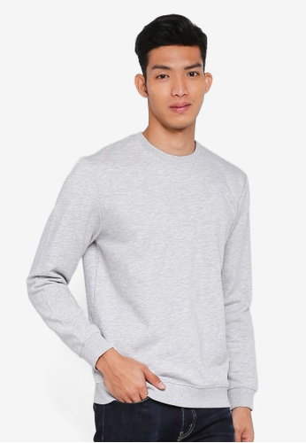 Only & Sons grey onsBASIC SWEAT CREW NECK BRUSHED NOOS DC809AA6E48A54GS_1