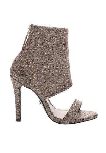 SCHUTZ 金色 SCHUTZ 露趾短靴型高跟鞋 - MAGGIE (金色) AAF83SH768AEFEGS_1