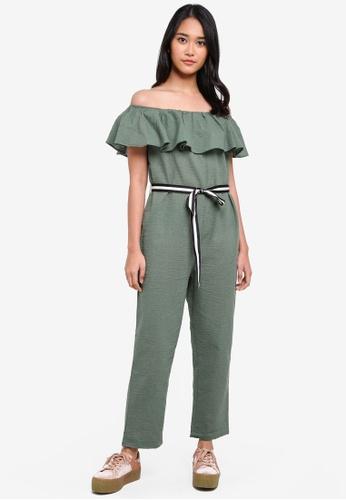 ONLY green Shirt Frill Jumpsuit 0B640AAF3D3F91GS_1
