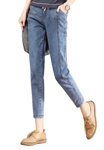 A-IN GIRLS blue Jeans With Elastic Waist BC7C7AA0BE3971GS_1