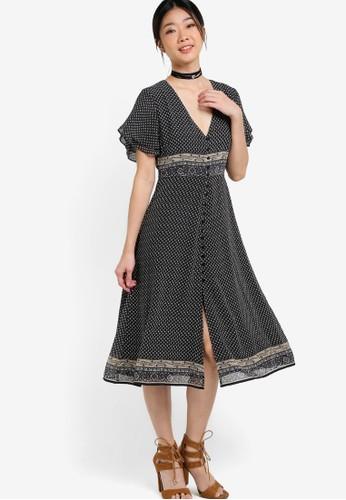 ZALORA black Collection Button Down Sun Dress DEB67AA29D4710GS_1
