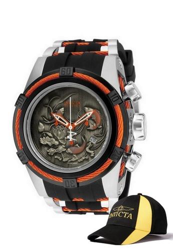 INVICTA black Invicta Bolt Men Swiss Quartz Chronograph 53mm Luxury Watch 14193 w/ Free Official Baseball Cap EE987AC57A5EAFGS_1