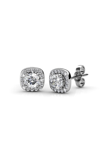 Her Jewellery silver Her Jewellery Cushy Earrings (White Gold) with 18K Gold Plated HE210AC42EAZSG_1