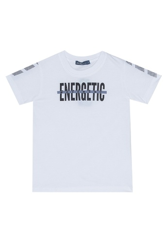 BOSSINI KIDS white Round Neck T-Shirt 1E155KA8A31CDBGS_1