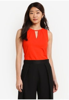 Buy womens fashion online zalora hong kong essential v neck detail fitted top de5f6zze513b82gs1 zalora stopboris Images