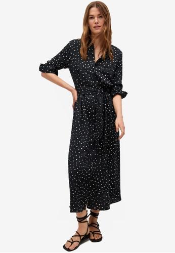 Mango black Printed Shirt Dress B9CCAAAE5F9301GS_1