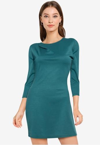ZALORA WORK green Twisted Detail Pencil Dress 9FD37AA1B0761CGS_1