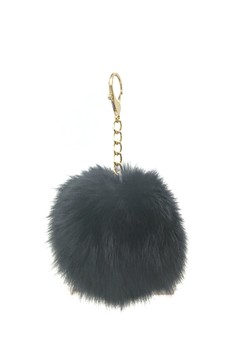 Image of Gantungan Pompom Bag Charm - Black