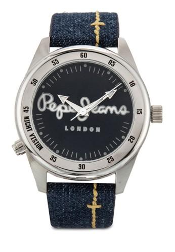 R2351118003  Disco-Tech 丹寧圓錶, 錶類, 飾品配esprit 台中件
