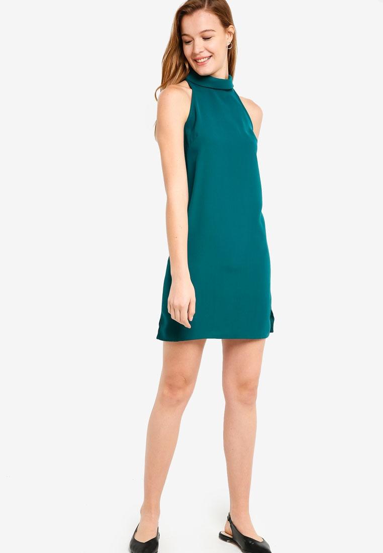 High Collar Dress Halter Forest ZALORA Neck Basic BASICS qxS145xw
