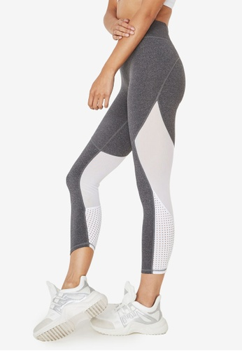 a266a5ce406dd9 Cotton On Body white Movement Mesh Panelled 7/8 Tights EA98AAABA4BE6EGS_1