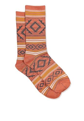 Cotton On orange Single Pack Active Socks 5531AAA6B0EC90GS_1