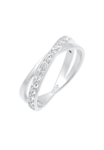 Elli Germany white Perhiasan Wanita Perak Asli - Silver Cincin Wrap Swarovski® Crystal Putih CAAA6ACC1A8479GS_1