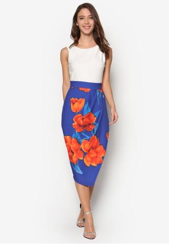 褶飾印花過膝短裙,京站 esprit 韓系時尚, 梳妝