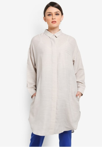 wide selection of designs retail prices amazing quality Long Blouse in Grey