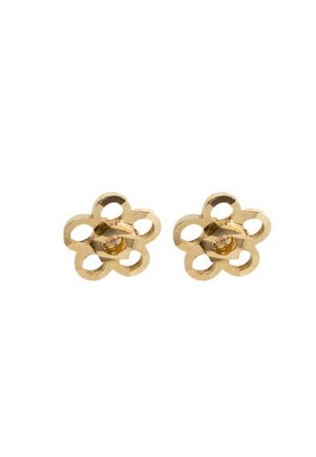 Piccolo Mio yellow Baby & Kids Diamond Flower Earrings 23611KC5482B28GS_1