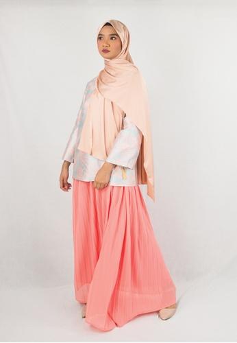 Zaryluq pink Pleated Maxi Skirt in Sweet Pea 0EB08AA5589BDDGS_1
