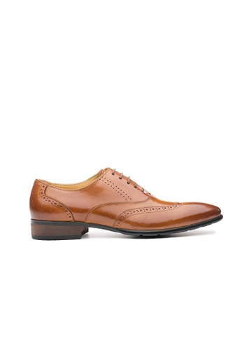 Kings Collection brown Alston Oxford Shoes 520E7SHA5B6D3EGS_1