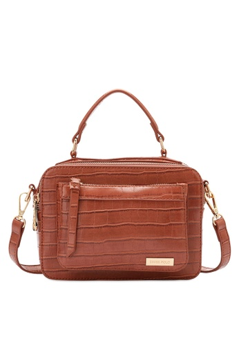 Swiss Polo brown Swiss Polo Ladies Top Handle Sling Bag 409D6AC76F753EGS_1
