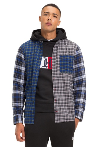 1064a036dd Buy Tommy Hilfiger LEWIS HAMILTON CHECK MAO SHIRT Online on ZALORA Singapore