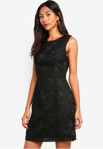 Forever New black Callista Lace Trim Dress C6634AA526A437GS_1