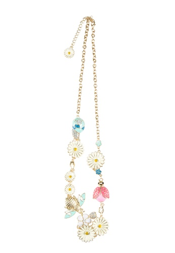 My Flash Trash gold Insect florets Necklace BCED8ACBF6B161GS_1
