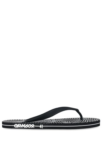 OR-K689 black Sandal Rubber Viby - Black strip 3C83CSH63E750DGS_1
