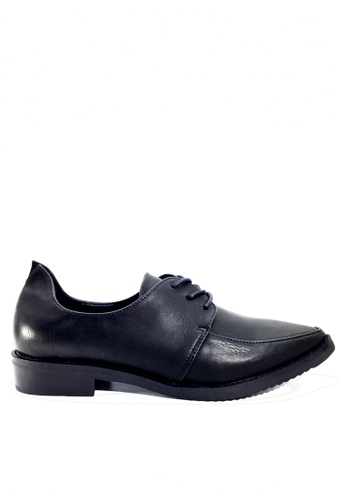 Twenty Eight Shoes 黑色 時尚後包跟綁帶鞋 VL76619 0CA2FSHF14092CGS_1
