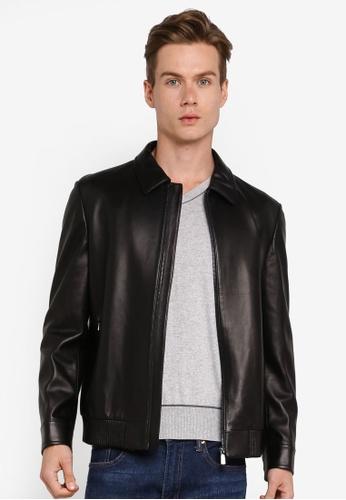 Gay Giano black Italian Leather Jacket FE52CAA6A76A67GS_1