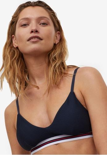 H&M blue Padded Bikini Top 95948US344467AGS_1