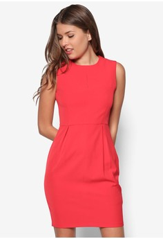 Collection Frontslit Midi Sheath Dress