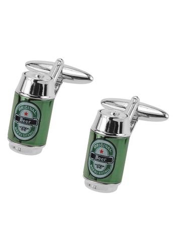 CUFF IT green Green Beer Can Cufflinks CU047AC2UQQHHK_1