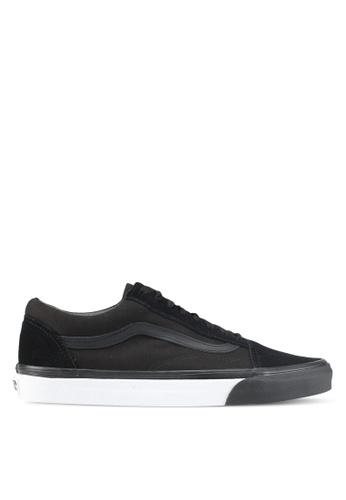 VANS black and white Old Skool Mono Bumper Sneakers VA142SH0SWNAMY_1