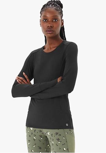 MARKS & SPENCER black Performance Long Sleeve Top 840C0AAD7D7E28GS_1