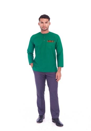 TUSCA green Andika Batik Kurta 06D0CAAAA005FAGS_1