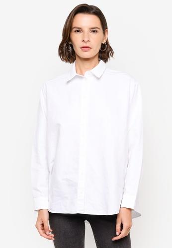H&M white Cotton Shirt 0A9BCAA75A1928GS_1