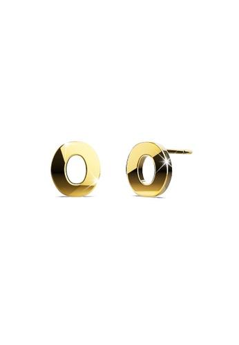 Bullion Gold gold BULLION GOLD Dainty Alphabet Letter Earring Gold Layered Steel Jewellery - O F791EACEBB0DFEGS_1