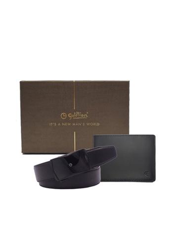 Goldlion black Goldlion Men Leather Wallet (Slim Series) & Auto-Lock Belt Gift set - Black 64D28ACB121C86GS_1