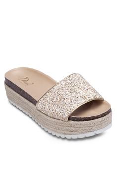 Glitter Platform Sandals