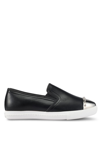 addicts anonymous black Isabelle Toe Cap Slip Ons AD479SH10MHDMY_1