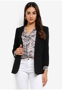 739e585345e Wallis black Black Tailored Fit Blazer D4419AA0F0CD1BGS 1