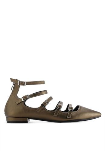 ZALORA gold Multi Straps Ballerinas CC336SH6F46C3AGS_1