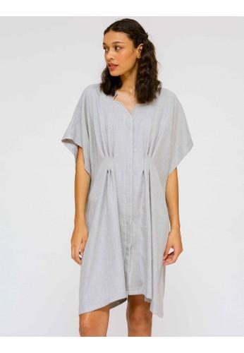 nona rona grey NONA RONA Agni Dress Grey 0DC26AA1B9F226GS_1