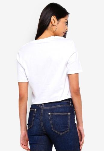 61fad528f6ae Buy Miss Selfridge Island Life Slogan Embroidered T-Shirt Online | ZALORA  Malaysia