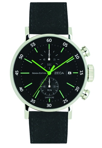 ZECA black and green Genoa Edition Male Analogue ZE260AC99SKISG_1