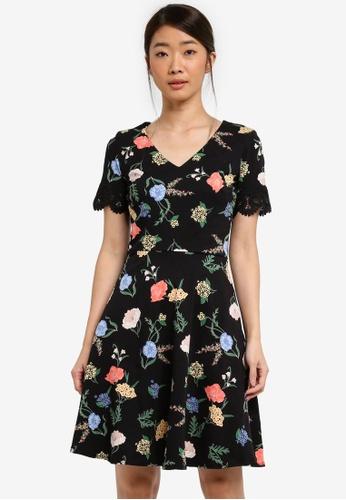 Dorothy Perkins black Floral Printed Dress 526BCAAC9FD489GS_1
