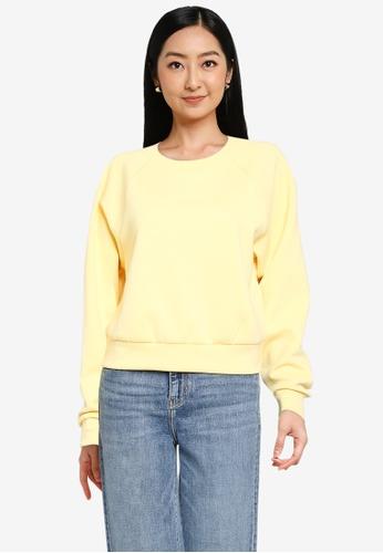 ONLY yellow Joy Long Sleeve Sweatshirt 59063AA4FAE98AGS_1