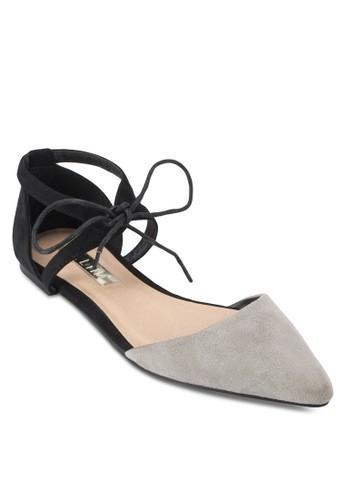Simba 繫帶撞esprit sg色側鏤空平底鞋, 女鞋, 鞋